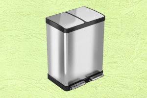 iTouchless Stainless Trash Can